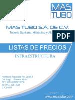 LISTA DE PRECIOS DE PLOMERIA E INFRAESTRUCTURA