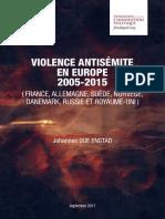 Violence antisémite en Europe 2005-2015