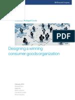 Designing a Winning Consumer Goods Organization