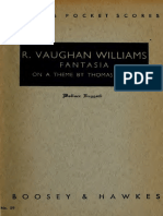 Vaughan Williams- Fantasia On A The By Thomas Tallis - Pocket Score