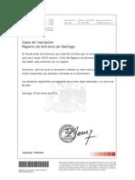 Reforma Registro Comercio Fojas 15519 N 11242 Ano 2005