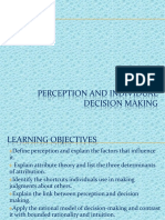 3. Perception and Individual Decision Making