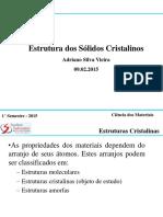 2. Estruturas Dos Sólidos Cristalinos