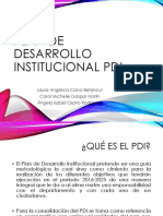 Plan de Desarrollo Institucional Pdi Presentacion
