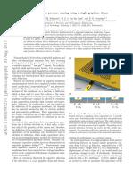 Static capacitive pressure sensing using a single graphene drum