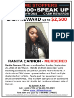 Ranita Cannon Crime Stoppers Poster