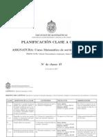 PLANIFICACIONCLASEaCLASECalculo2A2017S2
