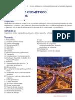 Temario Diseño Geometrico de Carreteras