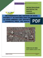 Mejoramiento Del Sistema de Agua Potable y Alcantarillado Sanitario de La Zona Urbana i Del Distrito de Nuevo Chimbote, Prov. Del Santa - Ancash
