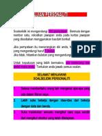 Soalselidik Personaliti Minat Kerjaya Sidek Noah LCD