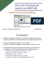 the Matlab User Interface
