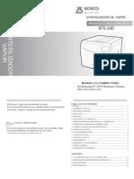 Manual Esterilizador BOECO - BTE-23D