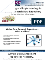 Online Research Data Repositories