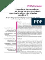 Estudo Do Mecanismo de Corrosão Por Pites