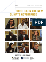 Discussion Summary -- African Priorities In The New Climate Governance