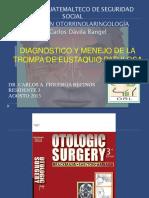 165274909 Diagnostico y Menejo de La Trompa de Eustaquio Patologica Brackmann Autoguardado