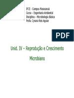 65798-Unid IV - Reprodução e Crescimento Microbiano