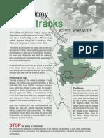 Burma Army Tracks Across Shan State English