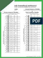 Rozkład Jazdy Modlin PKP-Modlin Port Lotniczy 15 X-9 XII