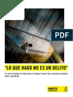 El Coste Del Trabajo Sexual en Buenos Aires