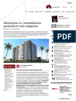 LECTURA 3 Municipios vs Inmobiliarias Parametros Mas Exigentes