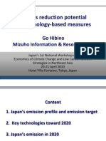 Japan's Reduction Potential by Technology-based Measures