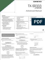 TX-sr333 Adv Manual En