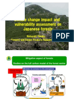 Climate Change Impact and Vulnerability Assessments on Japanese Forests