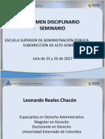 Seminario Régimen Disciplinario II