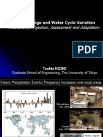 Climate Change and Water Cycle Variation