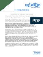 Press Release9.26.17