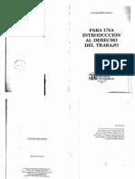 Para Una Introducción Al Derecho Del Trabajo - Luis Ramirez Bosco