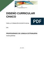 Diseño Curricular Fdi en Lenguas Extranjeras Carrera de 4 Años