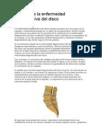 Causas de La Enfermedad Degenerativa Del Disco
