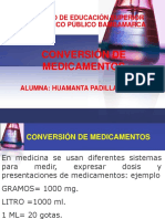 conversiones farmacológicas