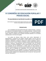 IV Congreso de Educación Popular y Praxis Social