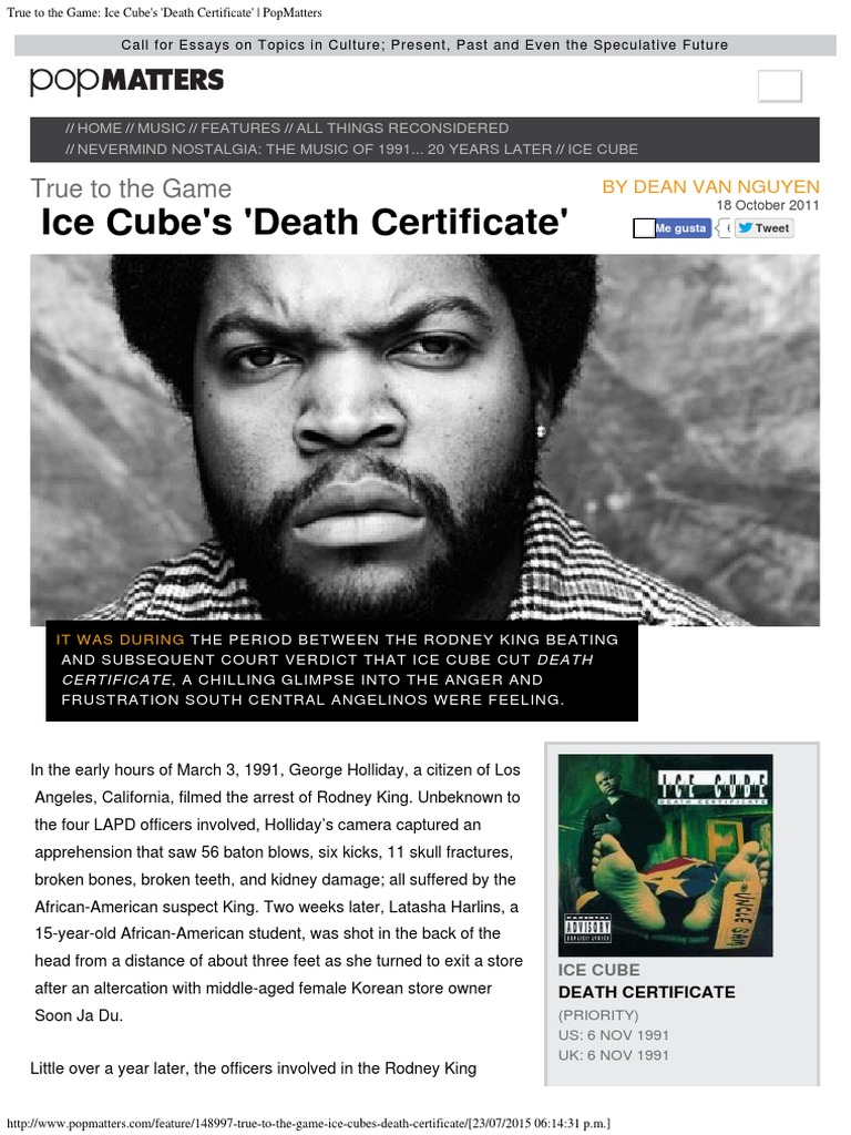 True to the Game_ Ice Cube\'s \'Death Certificate\' _ PopMatters.pdf ...