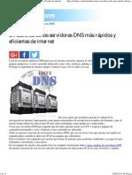 Direcciones de Los Servidores DNS Más Rápidos y Eficientes de Internet
