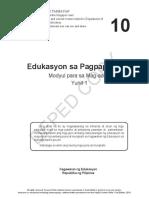 Modyul 1 - Ang Mga Katangian Ng Pagpapakatao (Learner's Guide)