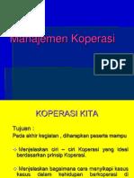 Materi Mata Kuliah Manajemen Koperasi