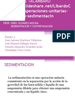 SEDIMENTACION CENTRIFUGACION equipo 4 .pptx