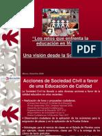 Sociedad Civil y Educacion