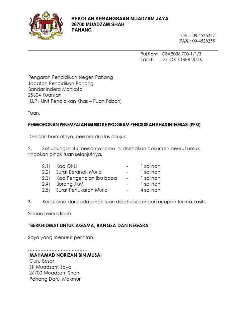 Surat Litup Mbk Jpnp