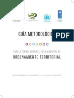 Guía Metodológica para la Formulación del Plan Municipal de Ordenamiento Territorial