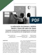 La educación de jóvenes y adultos dentro y fuera del salón de clases