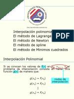 11 Interpolacion polinomial