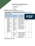 Sesión de Aprendizaje de Producción de Textos
