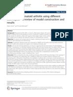 Modeling Rheumatoid Arthritis Using Different Techniques