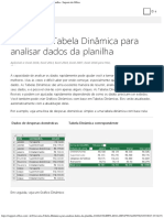 Criar Uma Tabela Dinâmica Para Analisar Dados Da Planilha - Suporte Do Office