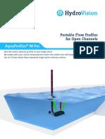 HydroVision Brochure Mobile Flow Profiler AquaProfilerMPro e 2017